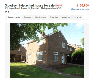 100000 house in east midlands